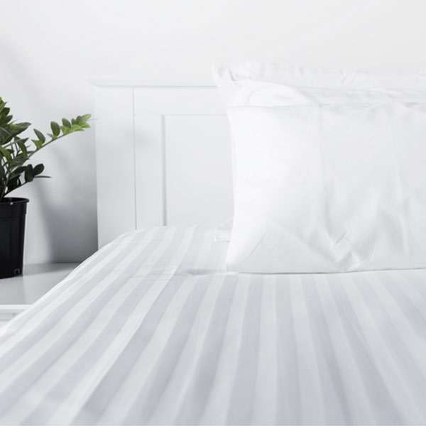 Sheet Satin Stripe 155Gsm 60/40 Cotton Polyester