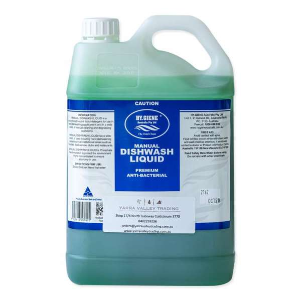 DISHWASHING LIQUID MANUAL HY.GIENE (5LTR TAP TO SUIT AVAILABLE)