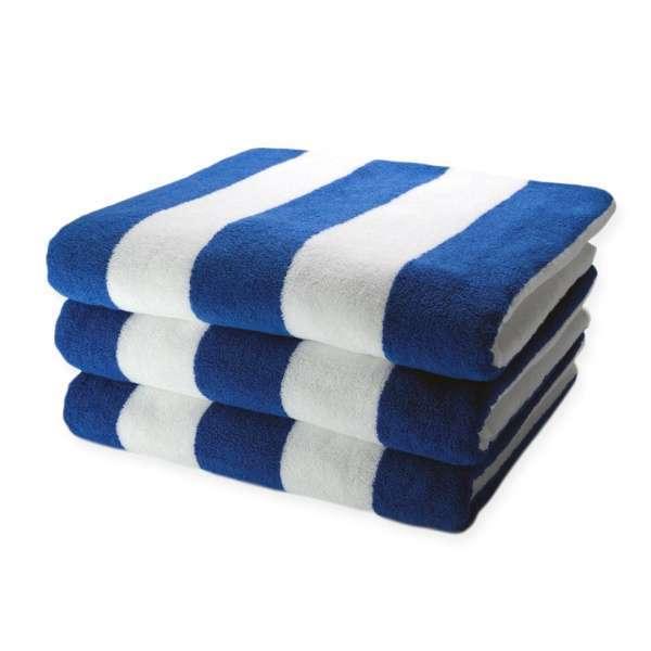 Pool Towel Blue Stripe 486Gsm