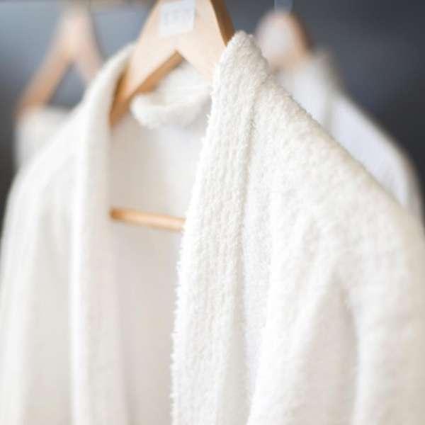 Bath Robe - Ultra Shawl Collar White 100% Cotton