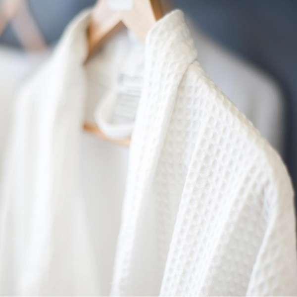 Bath Robe - Waffle White Polycotton Alliance